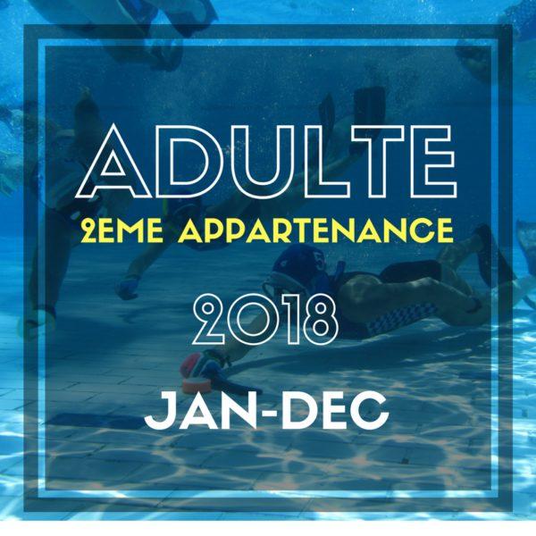BUWH Cotisation Adulte 2018